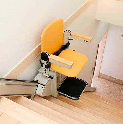 cadeira para escada reta
